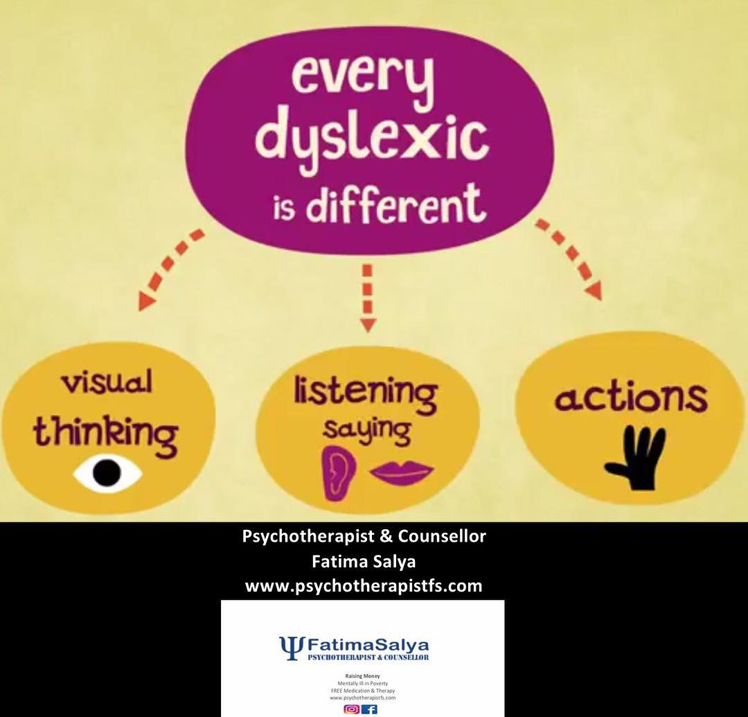 Every dyslexic is different!