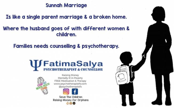 Sunnah Marriage is like a single parent & a broken home