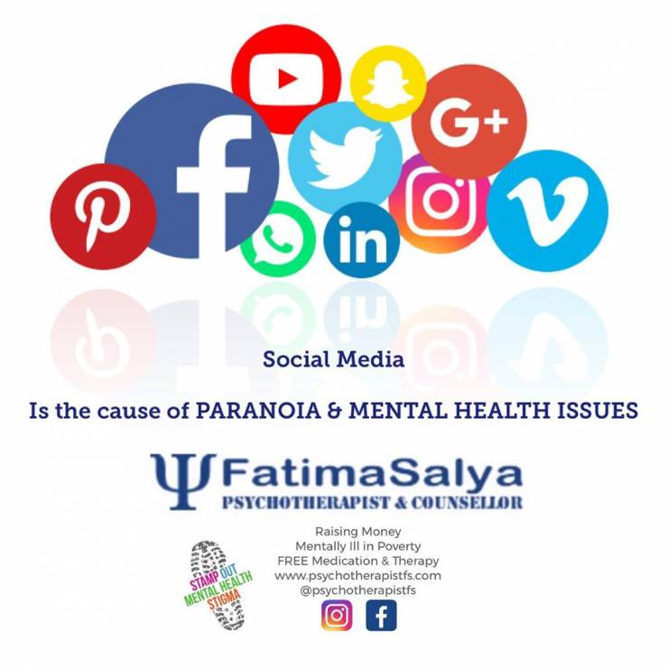 Social Media is the cause of paranoia & mental health issues